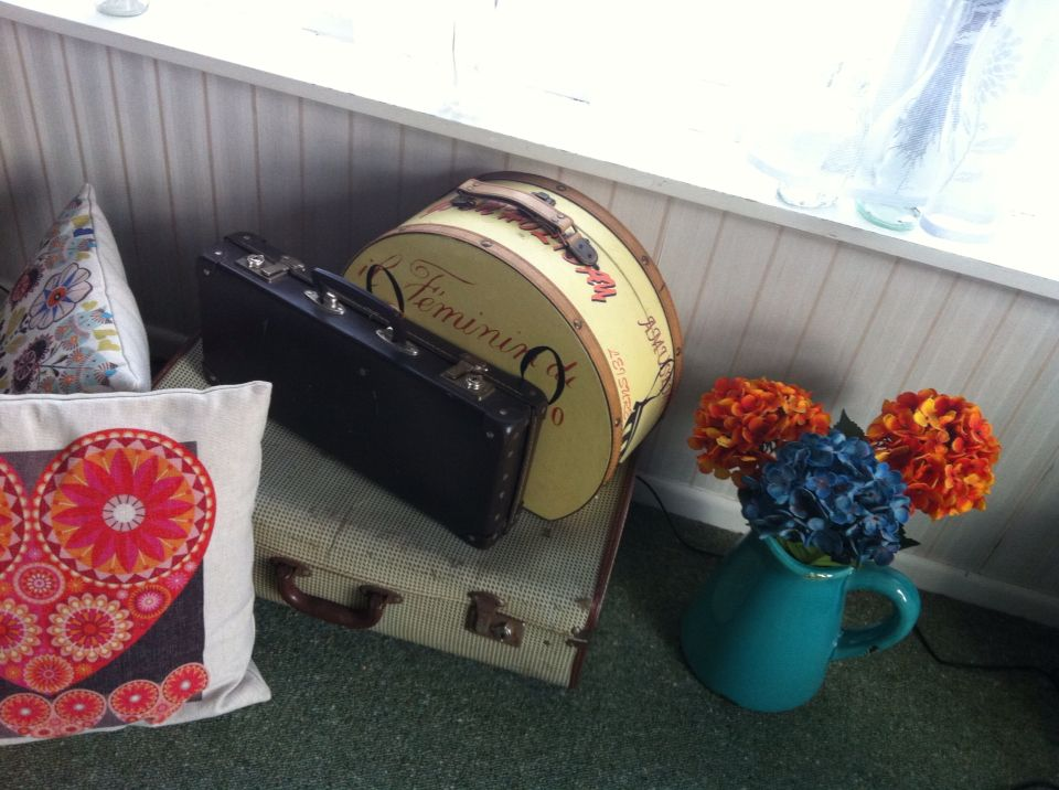 My vintage suitcase's...love secondhand shopping