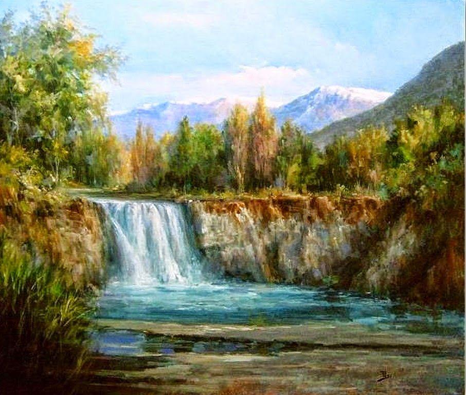 Cuadros modernos pinturas y dibujos pintores de paisajes - Cuadros espectaculares modernos ...