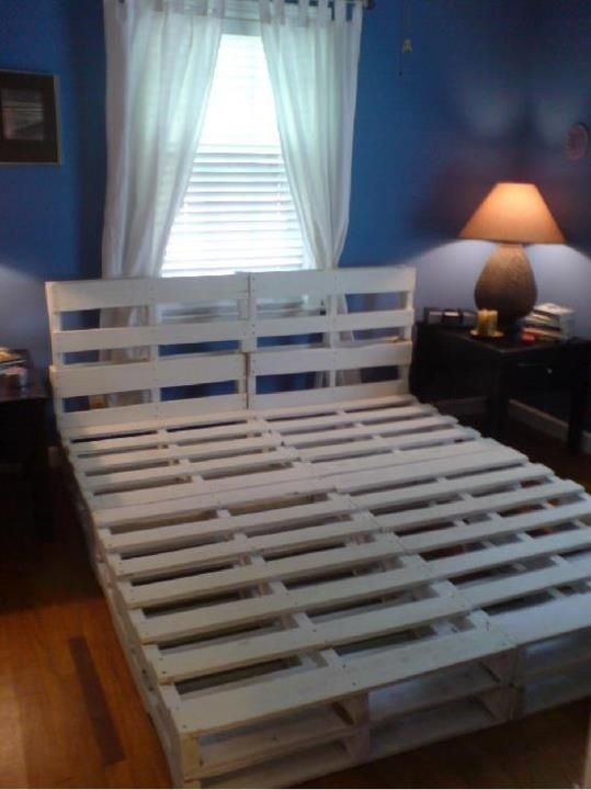 Beds Made From Pallets Pallet Projects Bed Made Out Of Pallets