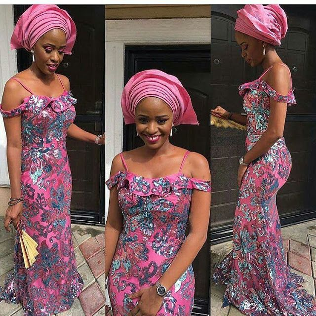 Fashion Beauty Zone: Creative Aso Ebi Gown Design For Ladies