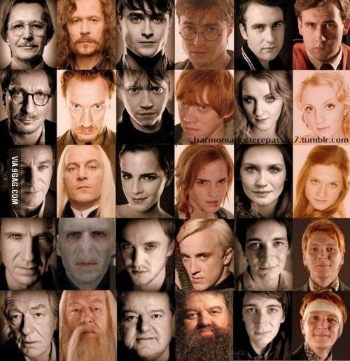 Harry Potter Cast Irl In Character Harry Potter Cast Harry Potter Characters Harry Potter Love