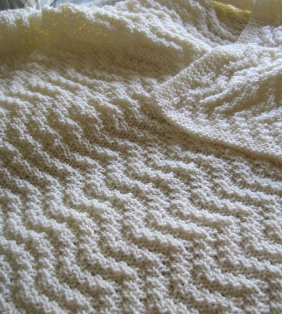 Free Knitting Pattern for Reversible Quick Knit Blanket - This ...