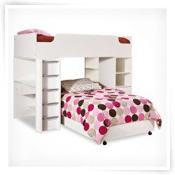 South Shore Logik Twin Loft Bed-Pure White Sale price $771.96
