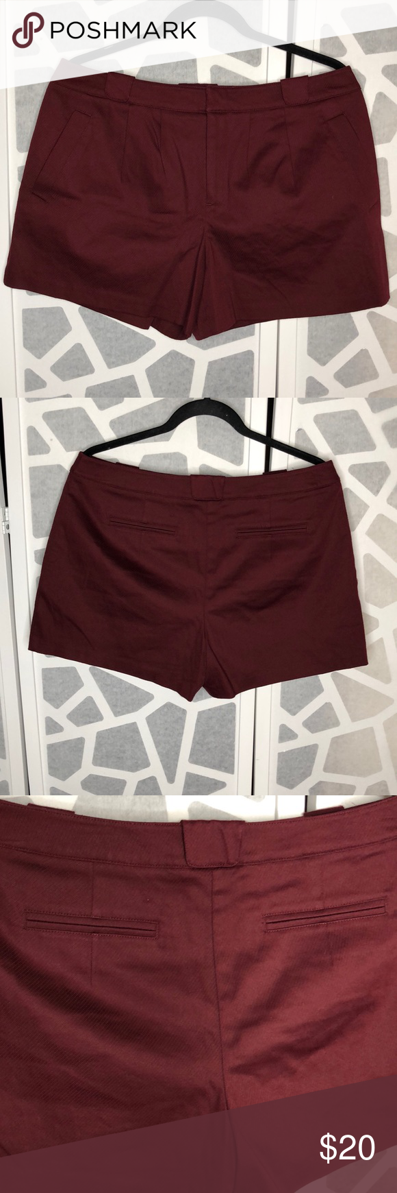 LC Lauren Conrad Shorts Teal Blue Green L Lined   Lc