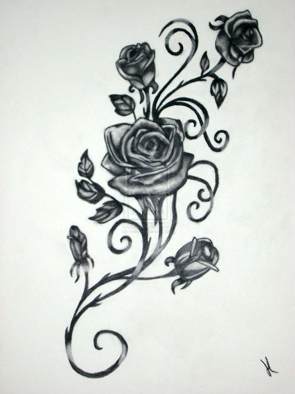 The vine flower tatuagens pinterest flower tattoo and tatting
