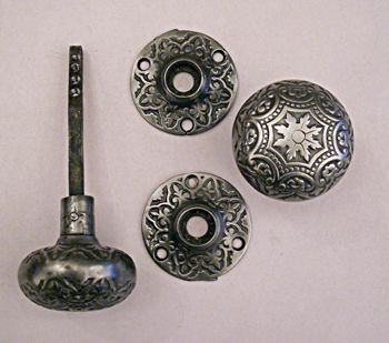 Cast Iron Passage Hardware #6517H Classic Decorative Polished Cast Iron  Door Knobs And Matching Roses