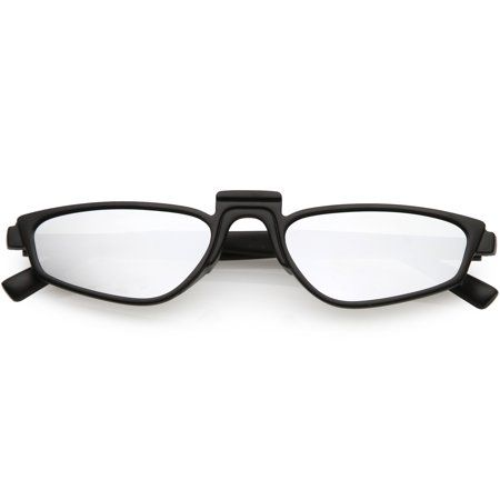 ed14f7bcd3 Geometric Square Raised Nose Bridge Mirrored Lens Rectangle Sunglasses 52mm  (Matte Black   Silver Mirror)