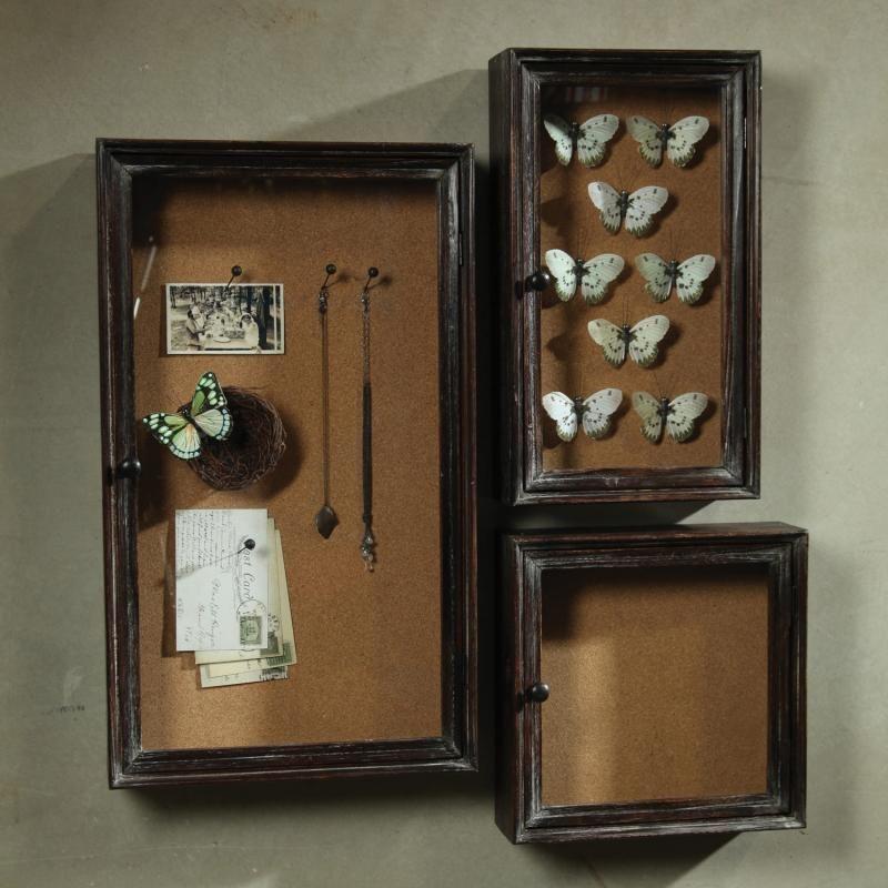 Spruce Home and Garden   Paxton Shadowbox Cork Boards