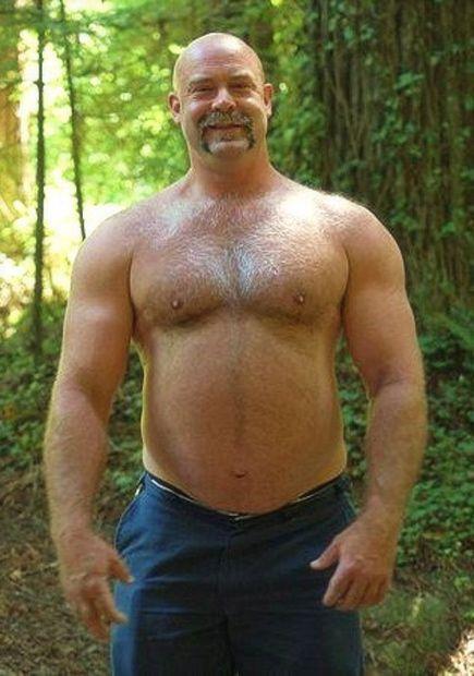 naked hairy bear men