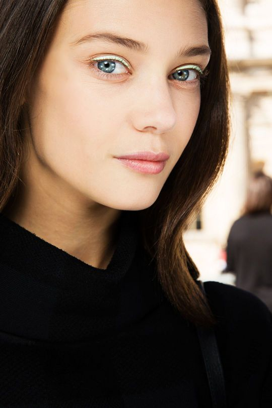 White eyeliner look courtesy of Peter Philips for Dior