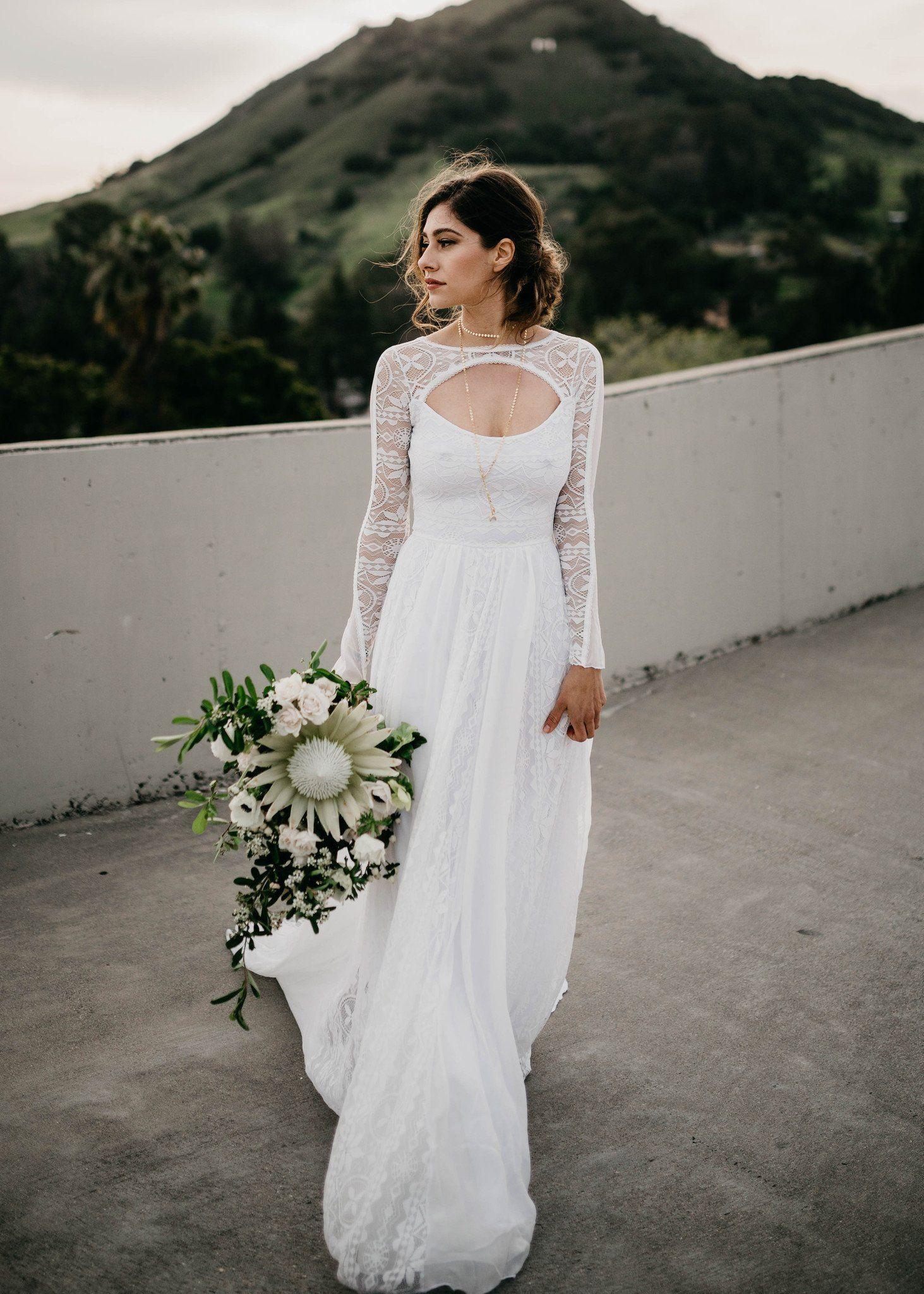 Wedding Dresses, Indie Wedding Dress, Long