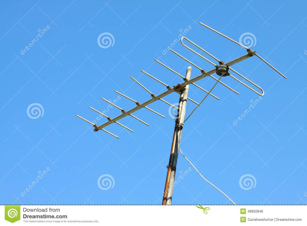 old-tv-antenna-house-roof-blue-sky-48902846.jpg 1,300×957 pixels