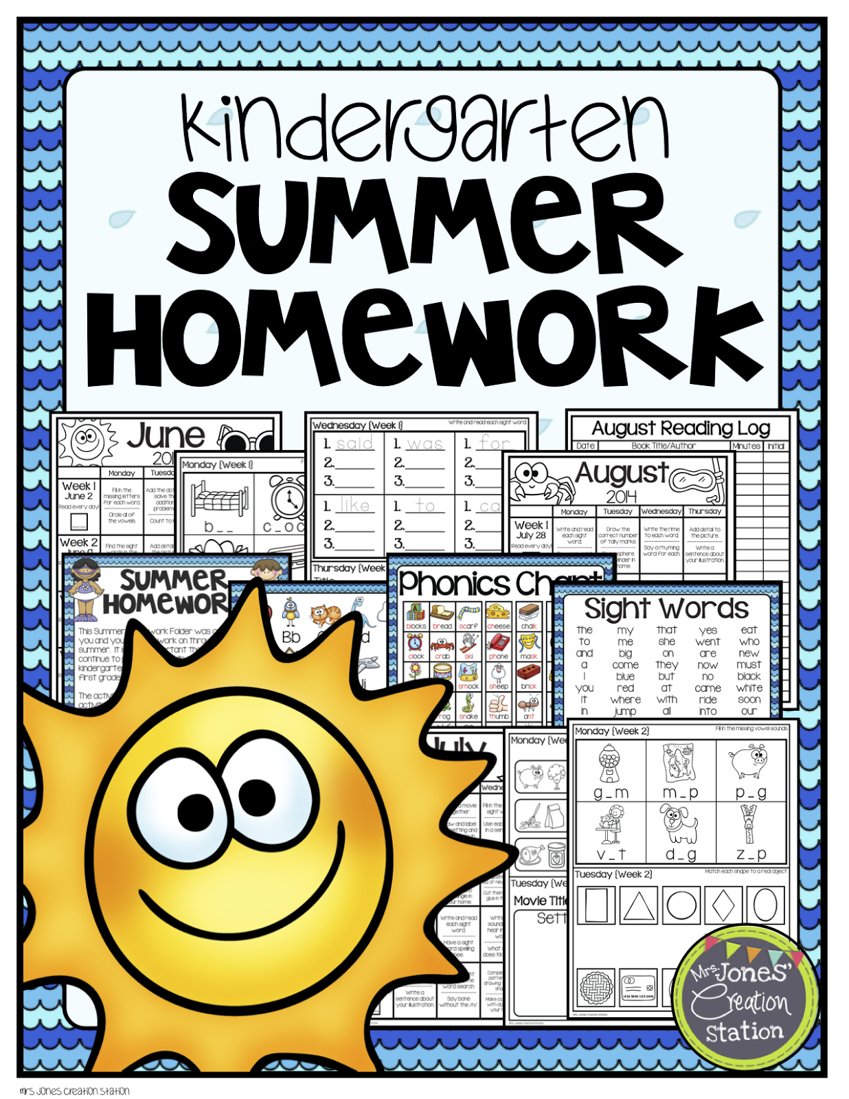 Kindergarten Summer Homework