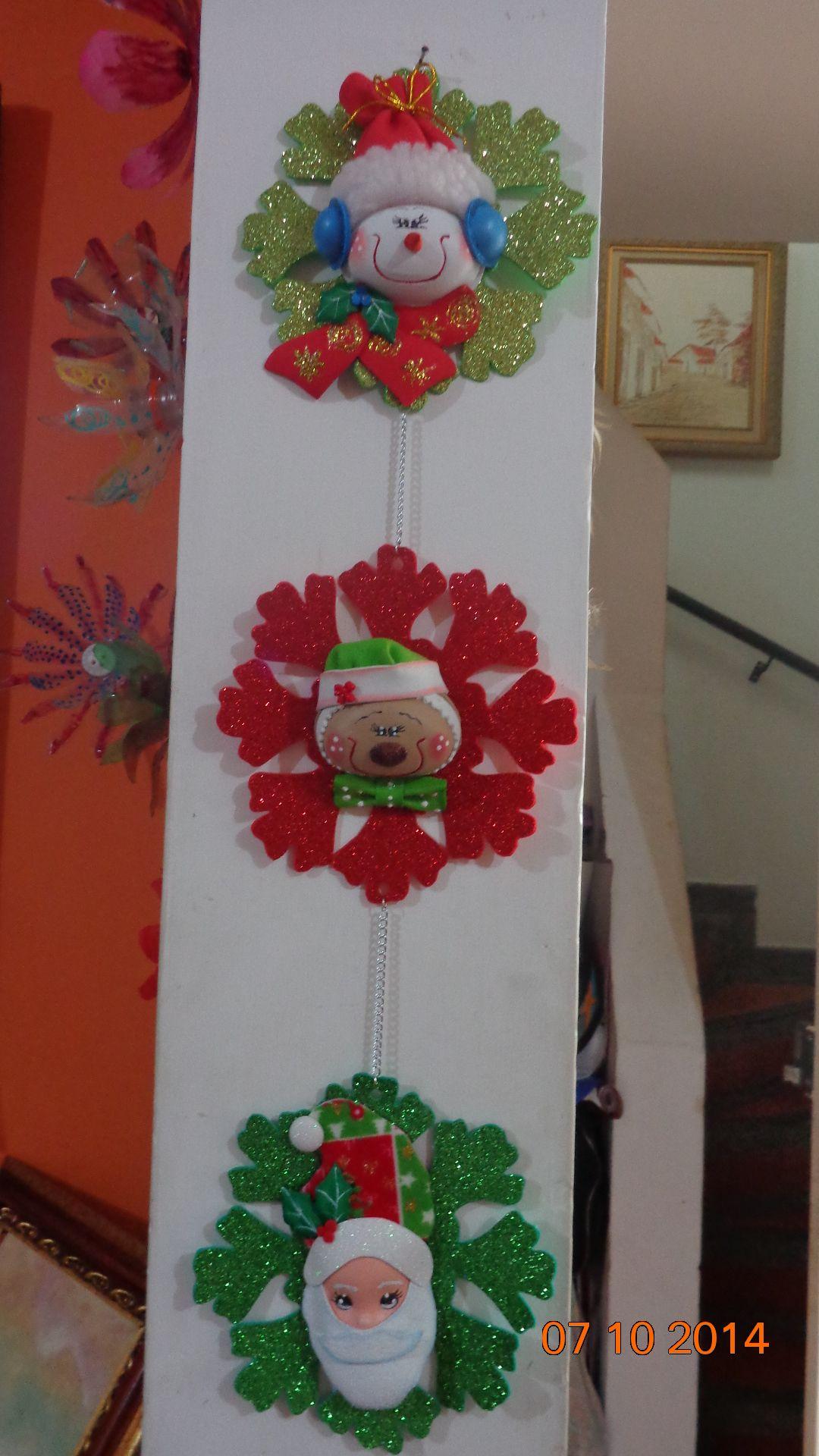colgantes navideos en goma eva