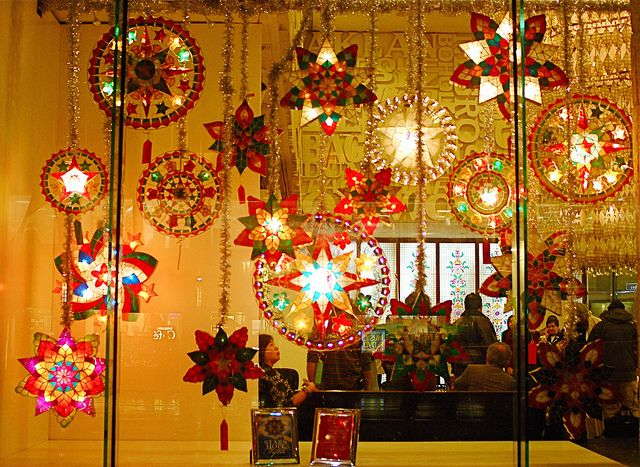 Philippine Capiz Shell Christmas Lanterns (Parol) at the