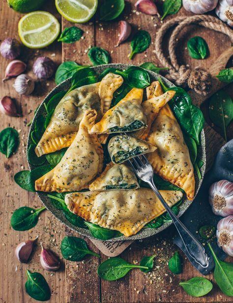 Vegane Teigtaschen mit Spinat und Cashew-Ricotta – Bianca Zapatka | Rezepte