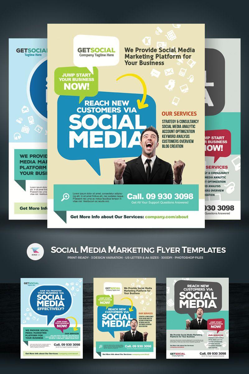 Social Media Marketing Flyers PSD Template Business