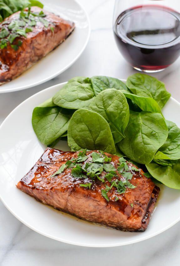 balsamic glazed salmon romantic dinner recipesrecipes