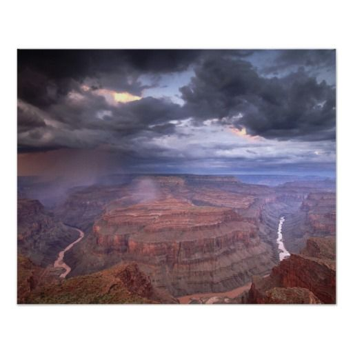 Grand Canyon Monsoon Storm, Conquistador Aisle, Gr Poster