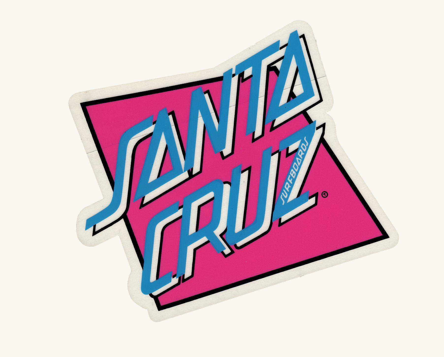Santa Cruz Surfboards Geo Santa Cruz Logo By Jim Phillips Relaid Out To Work For The Geo Graphic Sticker T Shirt Art Surf Logo 80s Logo Logo Sticker [ 1452 x 1804 Pixel ]