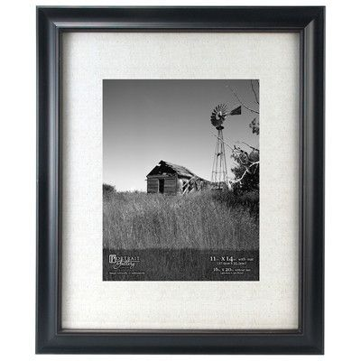 Laurel Foundry Modern Farmhouse Rectangle Beveled Picture Frame Color: Black