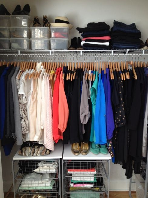 how to organize a closet. Mine should look like this