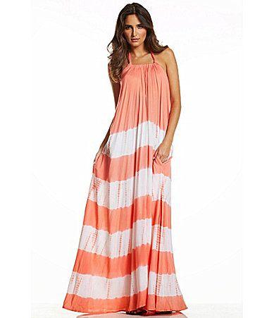 Elan TieDye Halter Maxi Dress #Dillards | Spring/Summer clothes ...