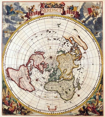Map Of The World Globe View.Details About Vintage Map 9 Top View Of The World Globe Atlas Art