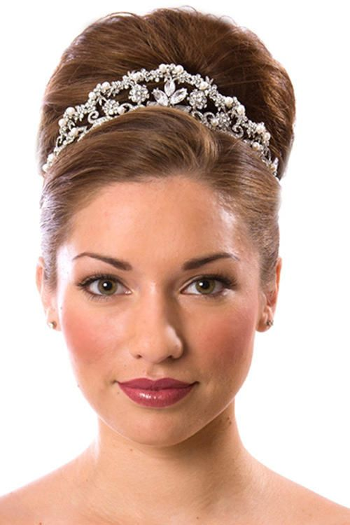 Sweet 16 Updo Hairstyles With Tiara Sweet 16 Updo Hairstyles With