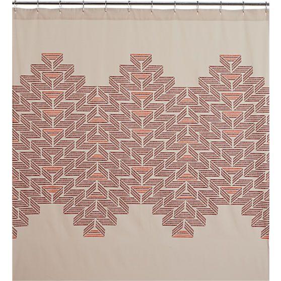 Shop CB2 For Modern Unique Shower Curtains Designed To Suit