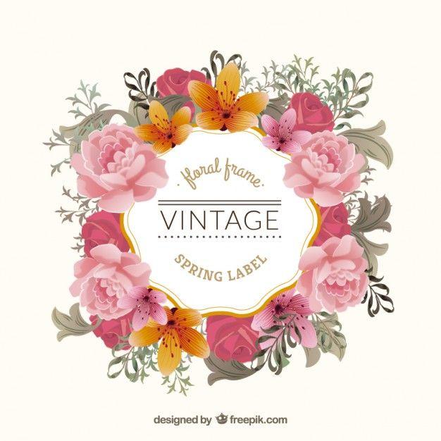 Download Vintage Floral Frame For Free Flower Frame Floral Vintage Floral