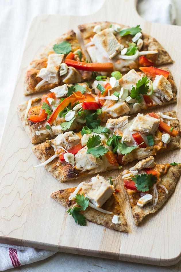 Quick & Easy Thai Curry Naan Pizza #recipe #pizza