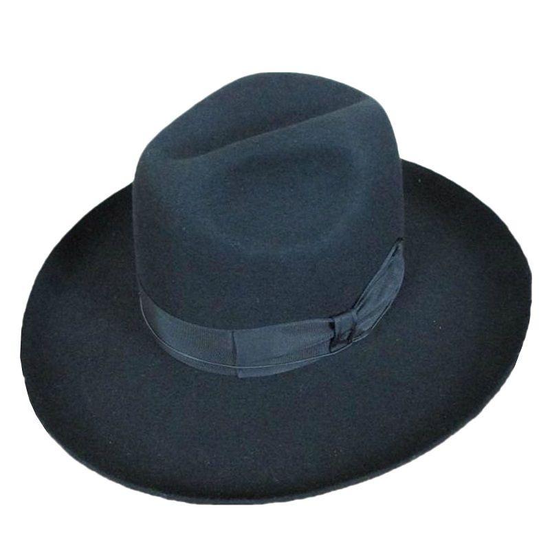 5b0d9bbddfc710 100%wool felt Stiff Brim: 10cm /4 Inch. Crown: 15cm/ 5.9 inch ...