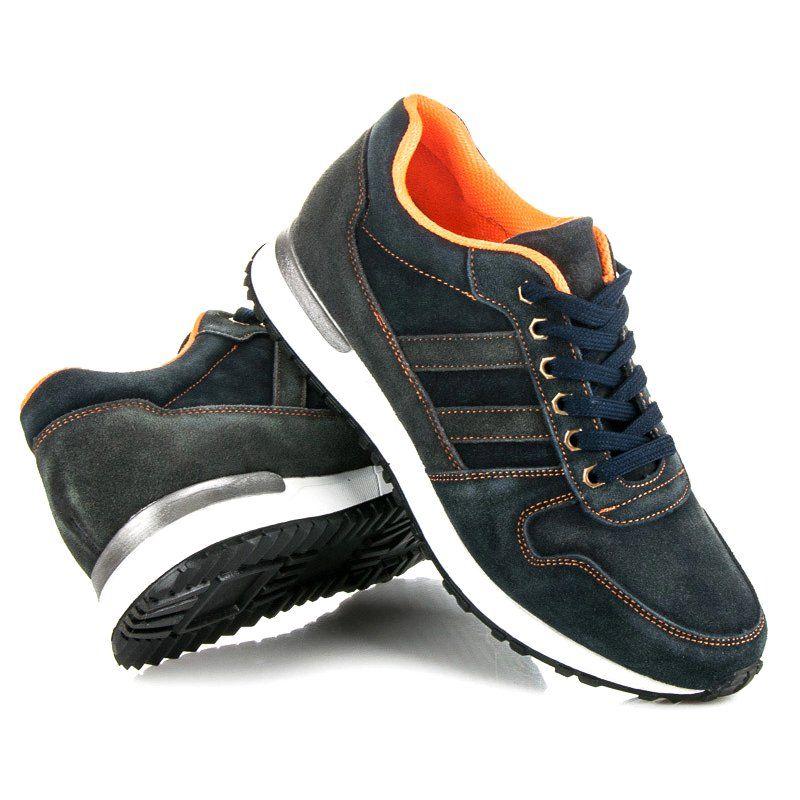 Sportowe Meskie Mazaro Niebieskie Buty Sportowe Ze Skory Mazaro Shoes Adidas Sneakers Sneakers