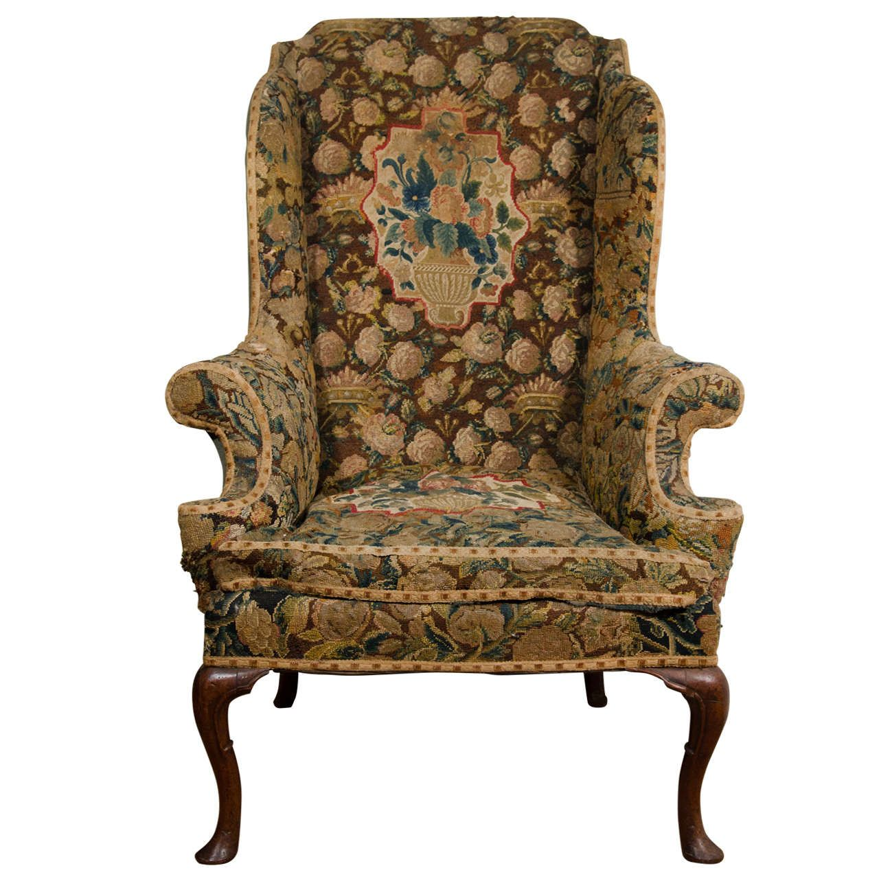Antiques · English Queen Anne Walnut Wing Chair ... - English Queen Anne Walnut Wing Chair Queen Anne, English And Chairs