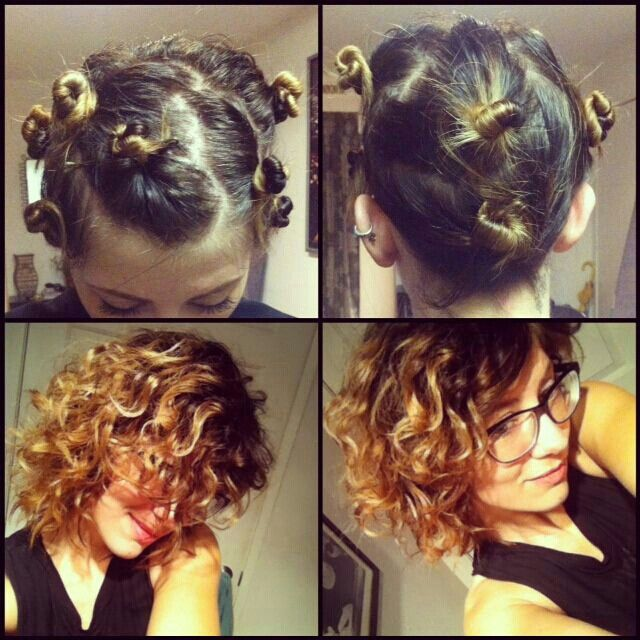 Wet Hair Curls How To Curl Short Hair Overnight Hairstyles Hair Styles