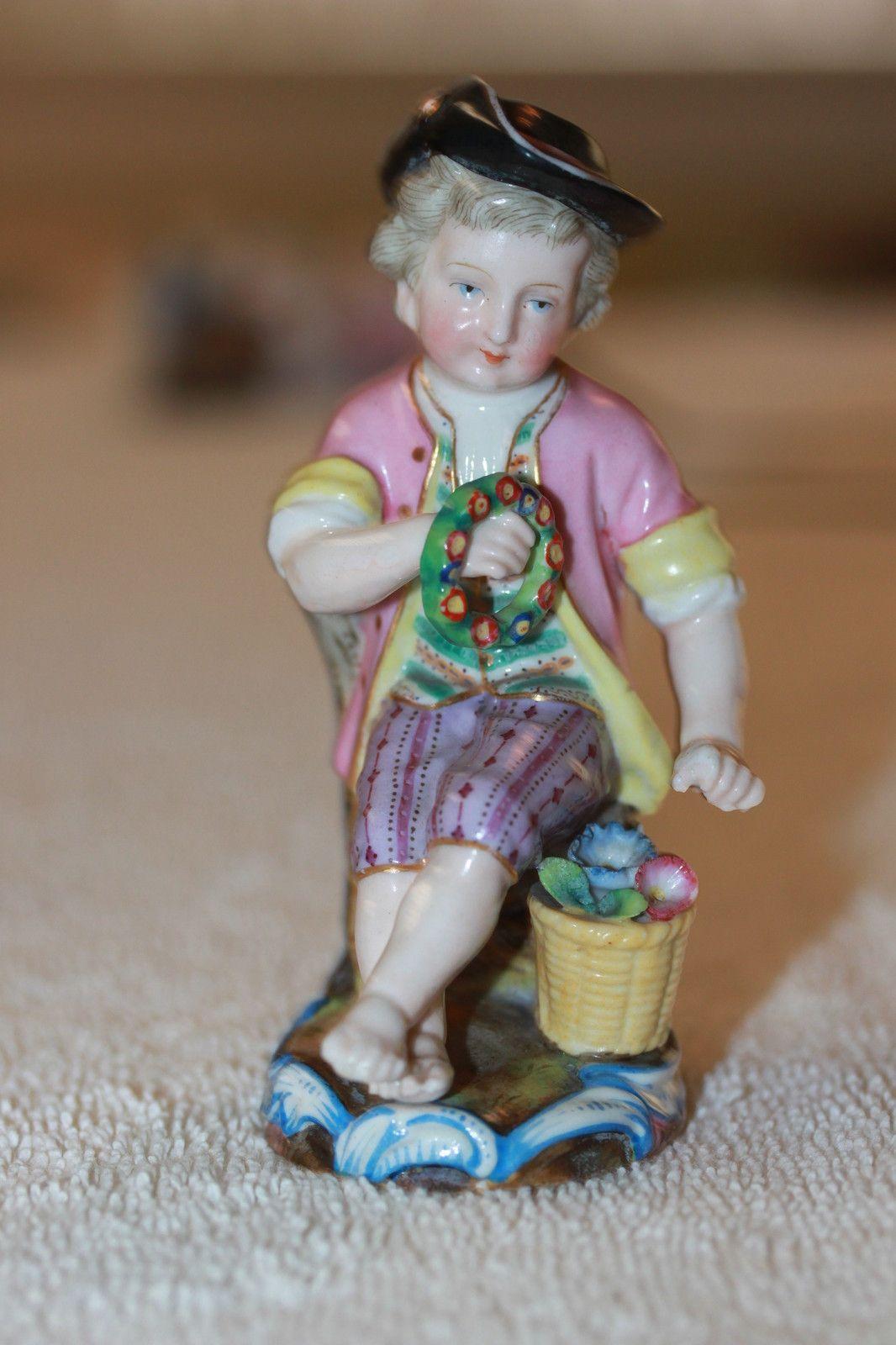 Item 1338 Antique Meissen Dresden Style Germany Porcelain Figurine $295 | eBay