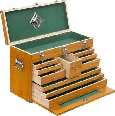 WOODEN FLY TYING BOX WOOD FISHING TACKLE STORAGE CHEST