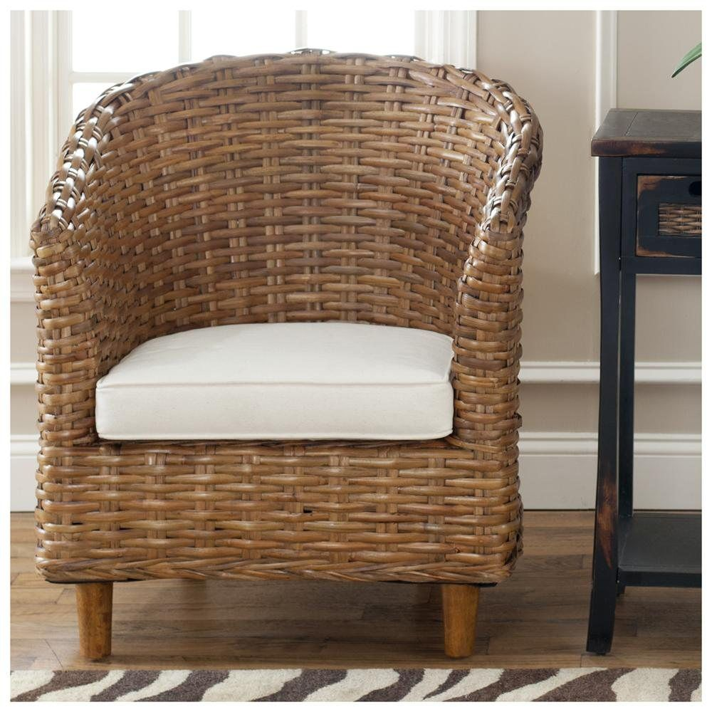 Nice Small Wicker Arm Chair Outdoor | Beauty Home Decoration