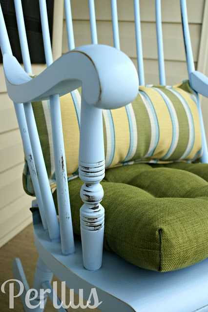 How To Paint A Glider Rocking Chair Using Spray Paint