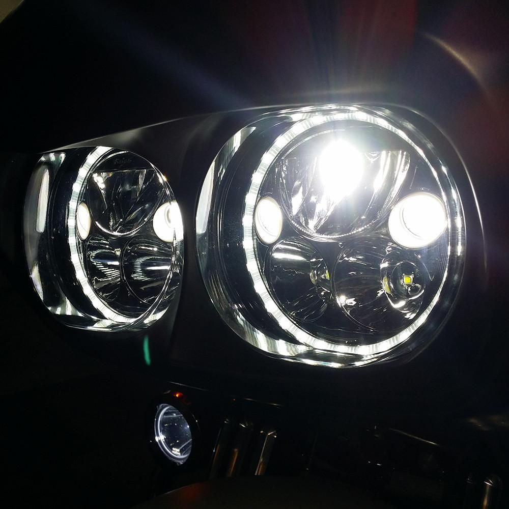 Ciro 3d Xmc Led Headlight From Vision X 7 In 2020 Harley Davidson Road Glide Harley Davidson Bikes Harley