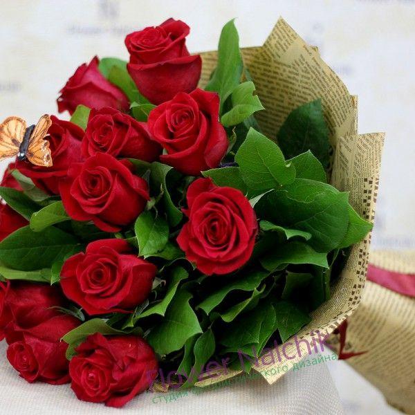 Тереза, букет из 15 красных роз цена 2200