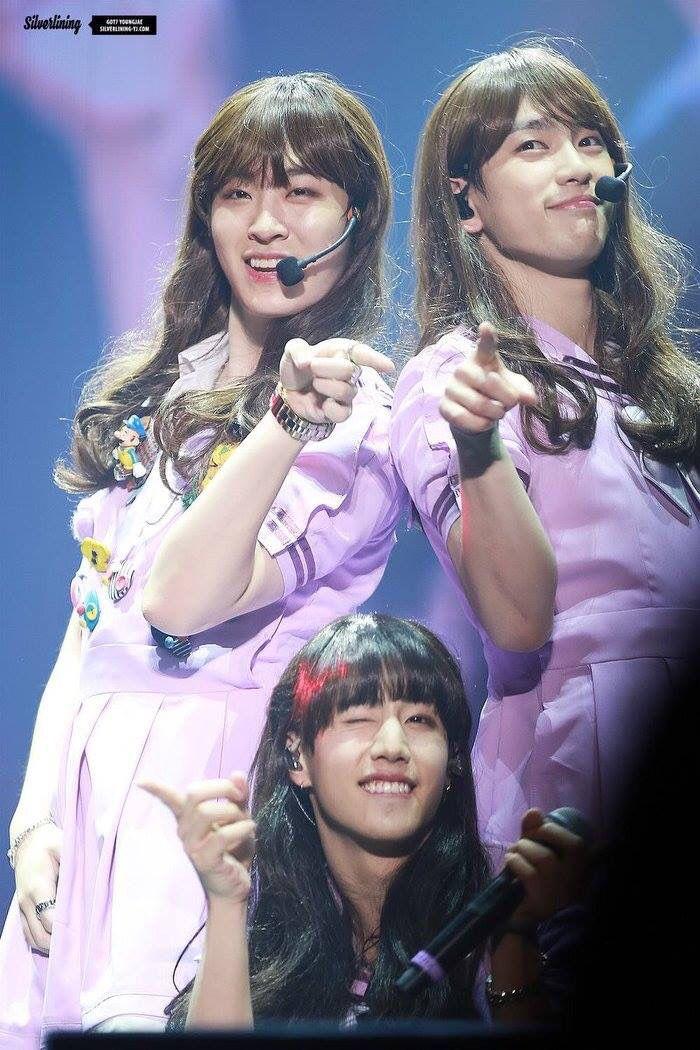 Jinyoung got7 dating girl group