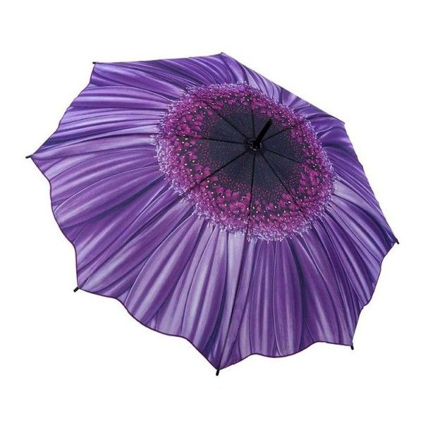 Click on the image to check this beautiful stick #umbrella, painted as a large violet #Aster #blossom.   https://www.rosemarie-schulz.eu/en/umbrellas/72-stickumbrella-violet-aster.html