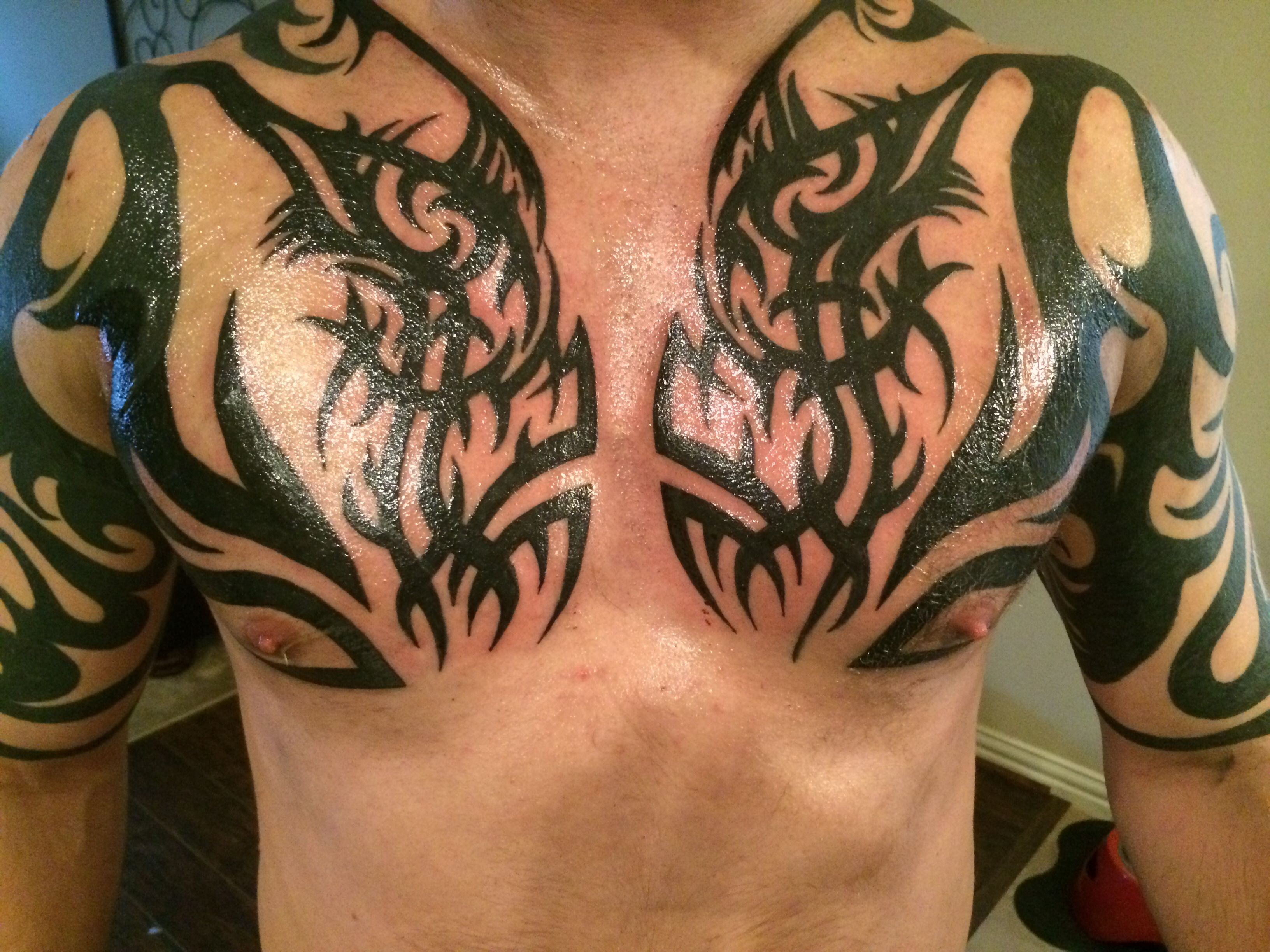 Tribal tattoo cover up fix completed tattoos pinterest for Tribal tattoos for cover up