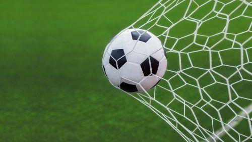 Picture Of Soccer Ball Goal In Net For Wallpaper