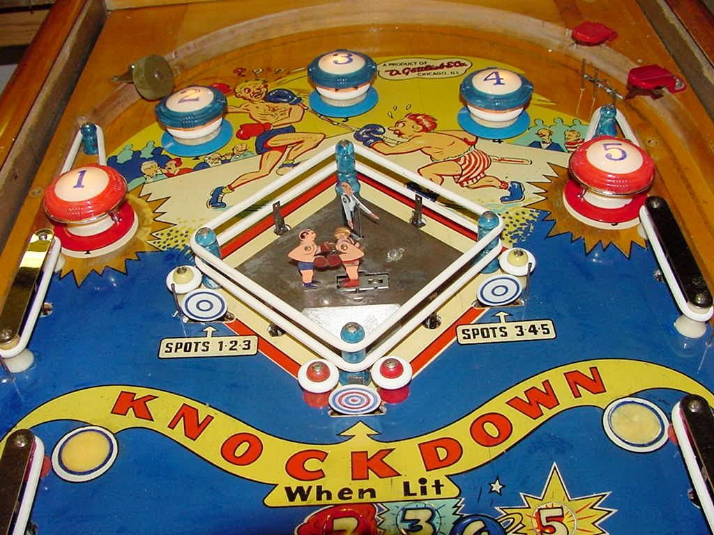 Knock Out (Gottlieb 1950)pinball game Google Search