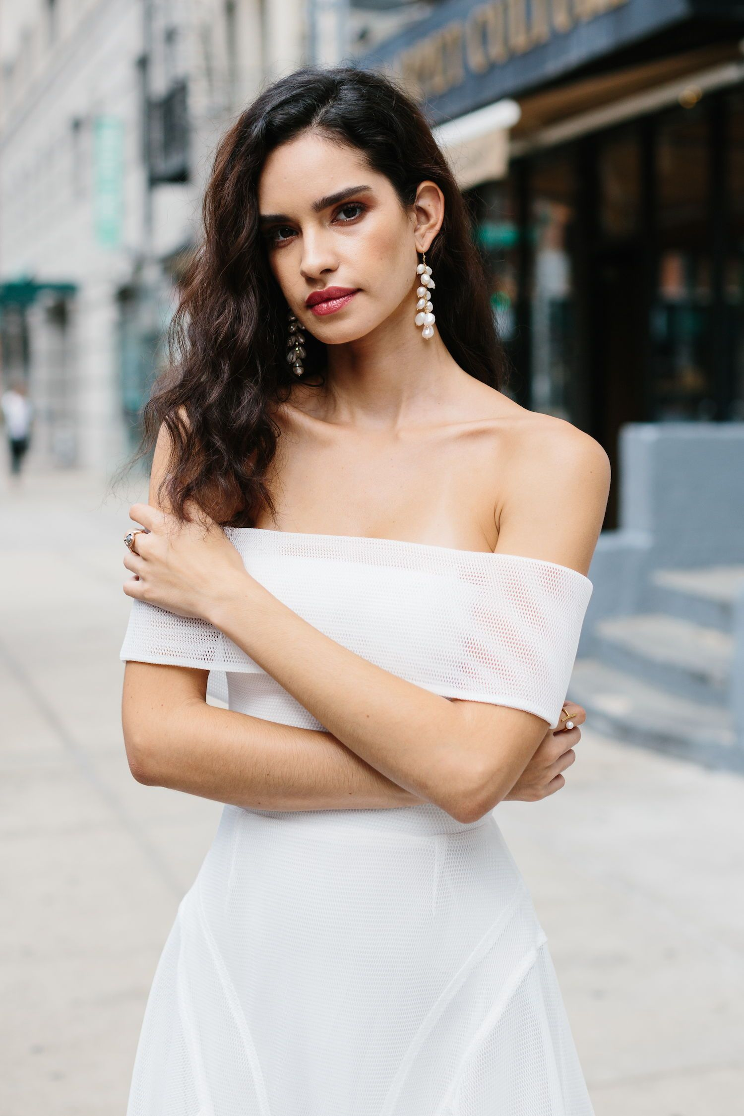 Unique Off the Shoulder Wedding Dress from Young
