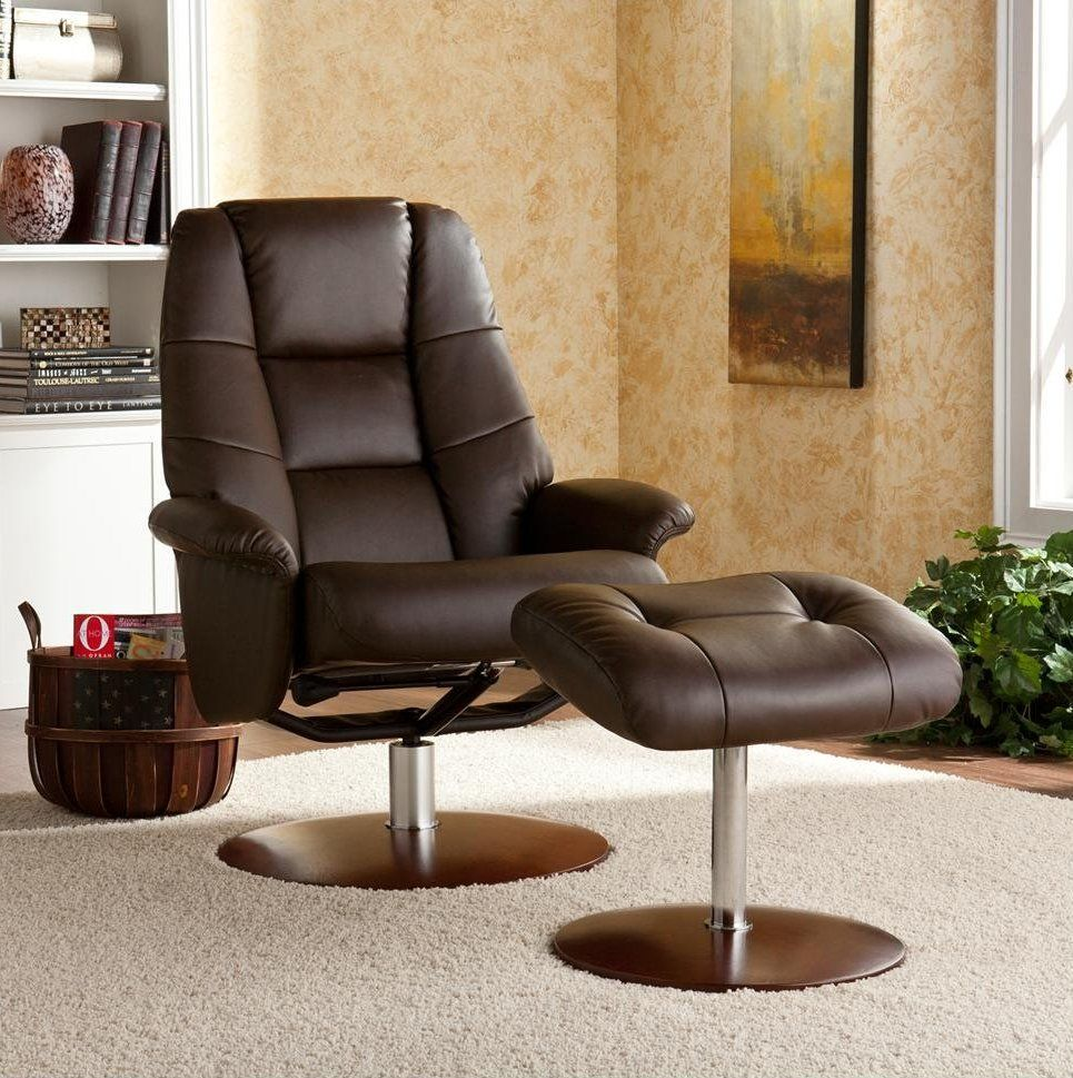 Office Workspace. Luxurious Reclining Office Chair Is Made
