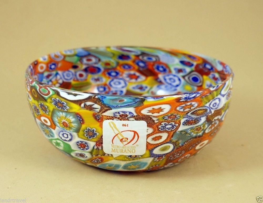 NEW MURANO MILLEFIORI AMAZING BOWL ITALIAN ART GLASS MADE IN VENICE  I&R GIFTS INTERNATIONAL  ebay.com